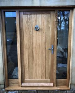 Oak Boarded Door Side Lights