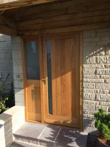 Oak Boarded Door With Glass