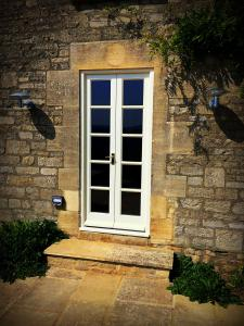 Painted white french doors