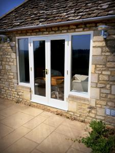 French doors with winglights