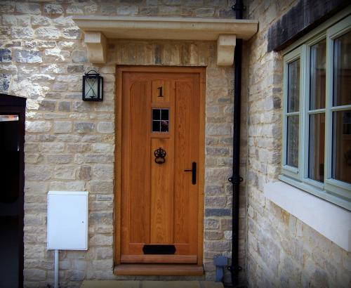 oak door curved top rail
