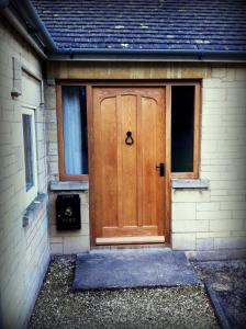 Oak door with internal curve and side lights