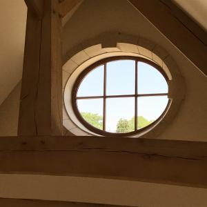 Eliptical Oak Window